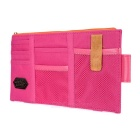 Non-Woven Cloth Hanging Storage Bag for Car Sunvisor - Deep Pink