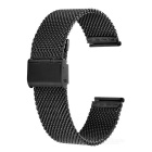 Mini sonrisa de malla gruesa reloj para APPLE WATCH 42mm - negro