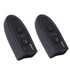 BT Interphones + Handsfree Bluetooth Headsets for Motorcycle / Skiing Helmet - Black (2 PCS)