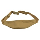 800D Outdoor Waterproof Nylon Waist Bag for Cycling - Tan