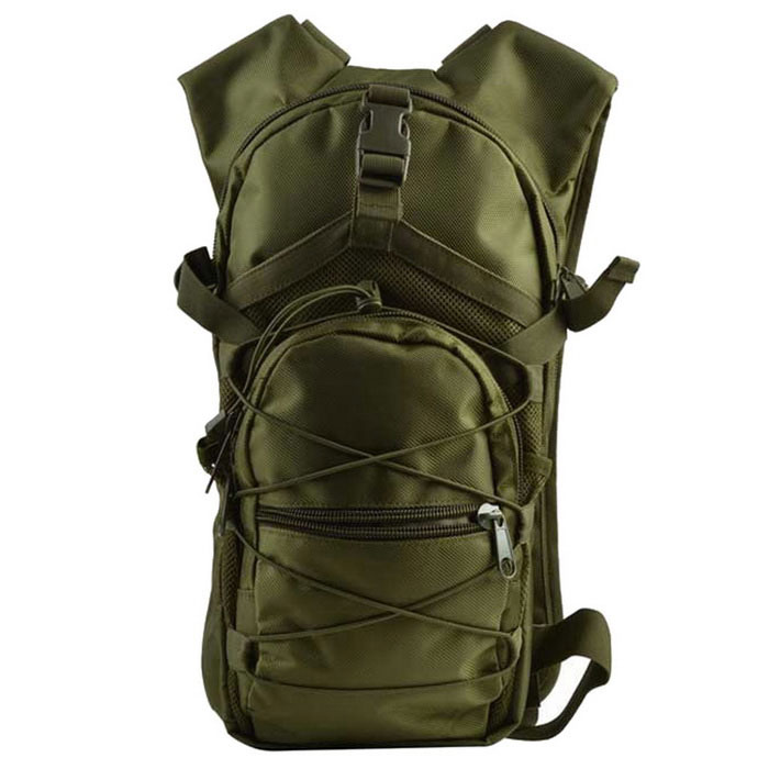 Outdoor Tactical 800D Oxford Shoulder Duplo mochila - verde escuro