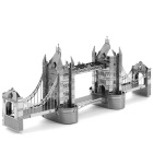 Creative 3D Laser Cute Models Metallic London Bridge Nano Puzzle - Silver