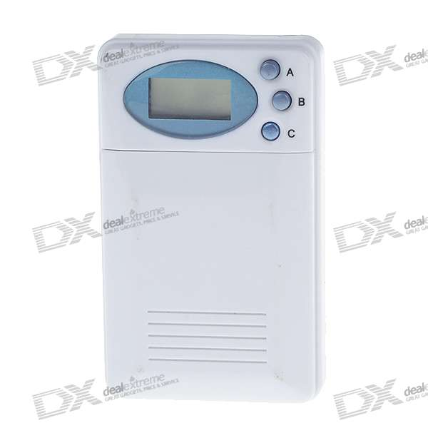 "0.8"" LCD 2-Compartment Pill Medicine Box with Timer Countdown + Alarm (1*AG13)"