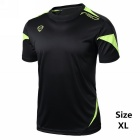 Men's Short Sleeve Breathable T-shirt + Quick-Drying Jersey - Black (XL)
