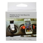 Car Air Vent Mount Holder for 5.5~9cm Phones - Black + Grey
