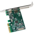 WBTUO Desktop PCI-E 4X to USB 3.1 Type-C + Type-A Adapter Card - Green