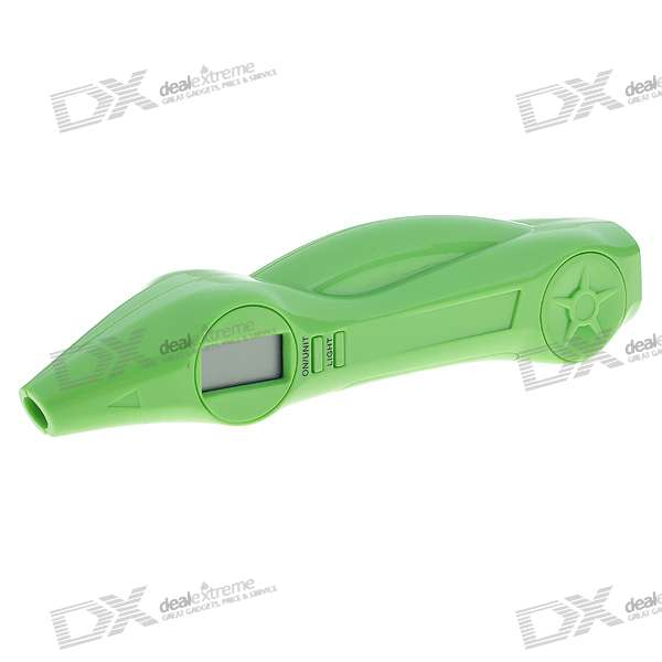 "0.8"" LCD Digital Tire Gauge with Compass + 3-LED 2-Mode Flashlight (2*AAA)"