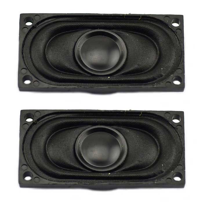 Jtron 8ohm 2W 40mm x 20mm Speakers - Black (2 PCS)