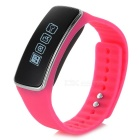 "V5S 0.91"" Bluetooth V4.0 Smart Bracelet w/ Pedometer / Calories / Calls Reminder - Deep Pink + Black"