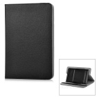 "Universal Protective PU + Plastic Full Body Case Cover w/ Stand for 8"" Tablet PC - Black"