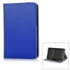 "Universal Protective PU + Plastic Full Body Case Cover w/ Stand for 7"" Tablet PC - Dark Blue"