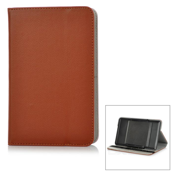 "Protective Full Body Case Cover w/ Stand for 7"" Tablet PC - Brown"