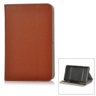 "Universal Protective PU + Plastic Full Body Case Cover w/ Stand for 7"" Tablet PC - Brown"