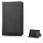 "Universal Protective PU + Plastic Full Body Case Cover w/ Stand for 7"" Tablet PC - Black"