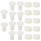 M4 Nylon Cross Flat Head Screws + Nuts Set for DIY Projects - White (20pcs)