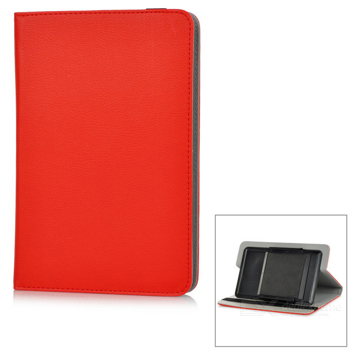 "Protective Full Body Case Cover w/ Stand for 8"" Tablet PC - Red"