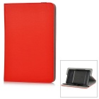 "Universal Protective PU + Plastic Full Body Case Cover w/ Stand for 8"" Tablet PC - Red"