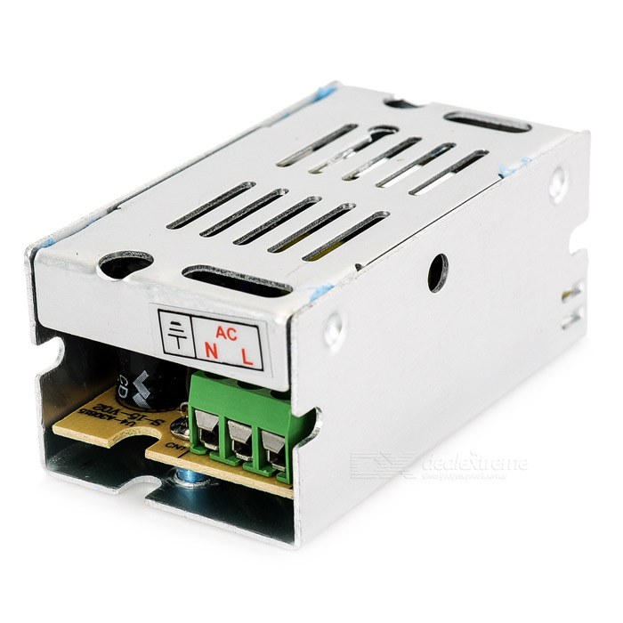 12V / 1A 12W Constant Voltage Bi-wire Switching Power Supply - SilverSwitching Power Supply<br>Power12WModel12V1AForm  ColorSilverMaterial1Quantity1 DX.PCM.Model.AttributeModel.UnitRated Current1 DX.PCM.Model.AttributeModel.UnitRate Voltage12VWorking Temperature-20~60 DX.PCM.Model.AttributeModel.UnitWorking Humidity20~90% RH (non-condensing)Power AdaptornoPower AdapterWithout Power AdapterPacking List1 x Switching power supply<br>