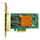 1000Mbps 4-RJ45 PCI-E Gigabit Ethernet Network Adapter Card - Green + Golden + Multicolor
