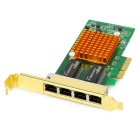 1000Mbps 4-RJ45 pci-e adaptador de red Ethernet tarjeta - multicolor