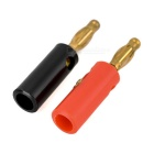 Gilded Banana Test Plugs for 910 Binding Post - Red + Black (2PCS)