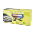 Luz de advertencia de flash LED roja / azul de encendedor de cigarrillo para automóvil - negro
