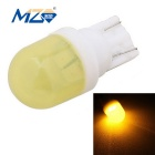 MZ T10 2-SMD 5630 1W 80lm Ceramic LED Car Clearance Lamp Yellow Light (DC 12V)