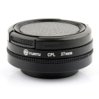 YUNTU 37mm Lens Protector CPL Filter + Lens Hood + Cap Kit for XIAOMI Xiaoyi - Black