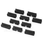 2,54 mm Pitch solo fila 14Pin Pin Header Set - negro (10 piezas)