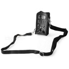 Universal Interphone PU + Nylon Waist Bag w/ Strap for Baofeng UV-5R / UV-5RA / UV-5RE - Black
