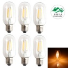 Zweihnder E27 4W LED Filament Candle Bulbs Warm White 3000K 280lm (AC 220~240V / 6 PCS)