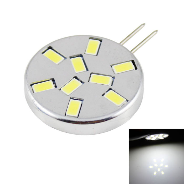 G4 4.5W Circular Corn Lamp Cold White Light 360lm - Silver + Black