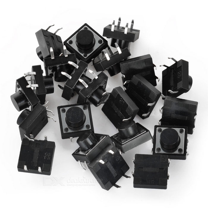 12 x 12 x 7mm Tact Switches (20 PCS)