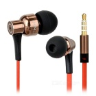 JBMMJ MJ8600 Super Bass In-Ear Earphone w/ Mic / Remote - Brown + Red