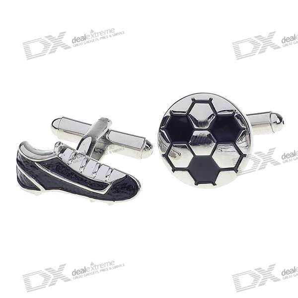 Football + Sport Shoe Shaped Cuff Links/Buttons (Pair)