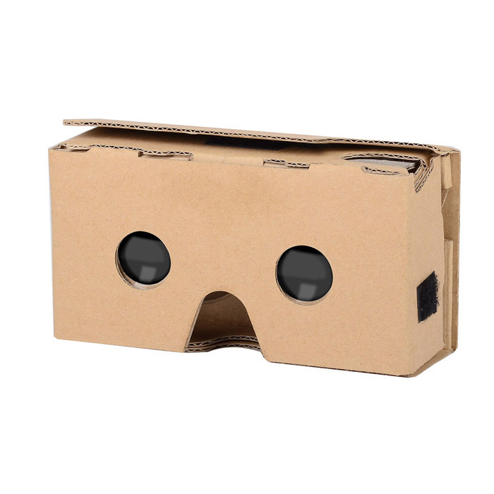 "Cardboard Virtual Reality Gen 2 VR 3D Glasses for 6"" Phone - Yellow"