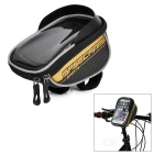 "Basecamp BC-305 Bike Handlebar Mounted Touch Screen Pouch Case Bag for 5.5"" Phones - Black + Golden"