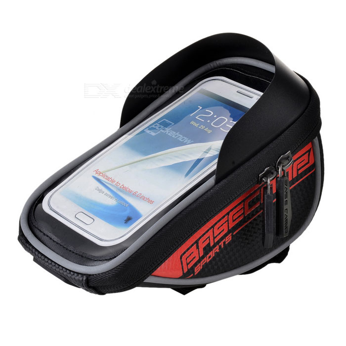 "Basecamp Water Resistant Bike Handlebar Bag for 5.5"" Phones - Black"