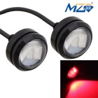 MZ 1.5W Spot LED Car Daytime Running / Fog / Brake Light Red 3-5630 SMD 150lm 660nm (12V / Pair)