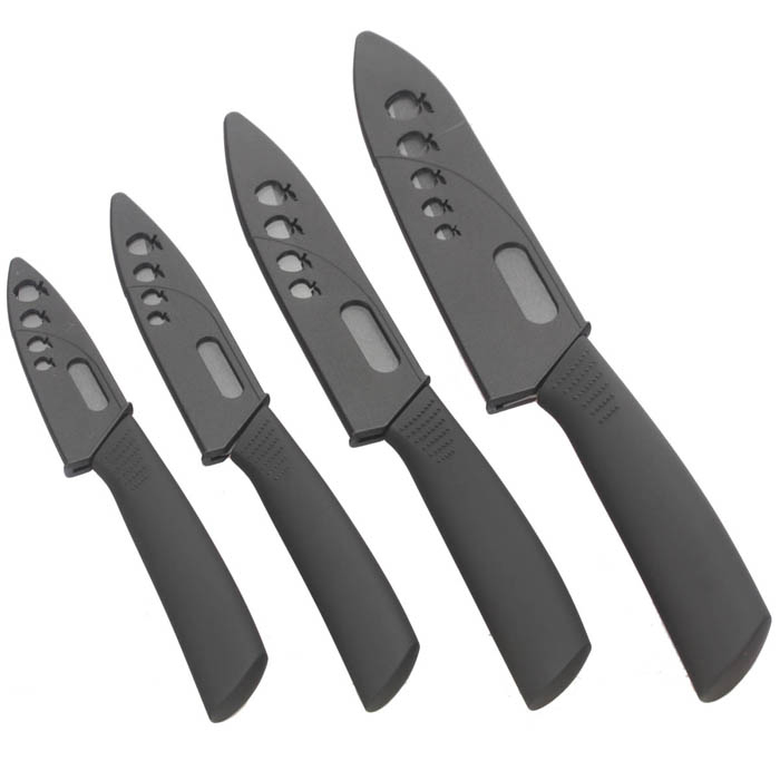 "NEJE Black Blade 3"" / 4"" / 5"" / 6"" Ceramic Knife Set -Black ( 4PCS )"