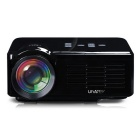 UHAPPY U35 HD Home Theater LED Mini Projector w/ DC 5V / SD / HDMI / VGA / AV / USB - Black