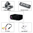 UHAPPY U35 HD Home Theater LED Mini Projector w/ SD, HDMI, VGA - Black