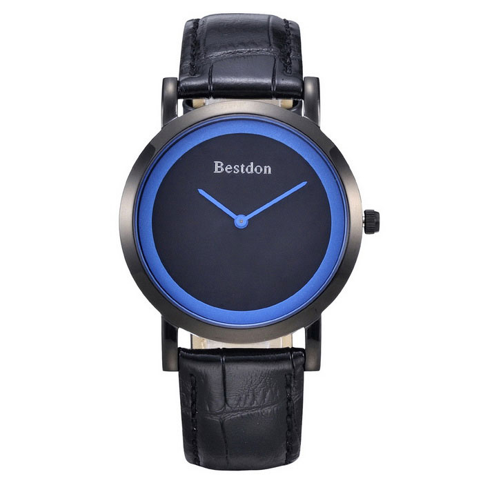 BESTDON BD9969 Men's Waterproof Simple Quartz Wrist Watch - Blue