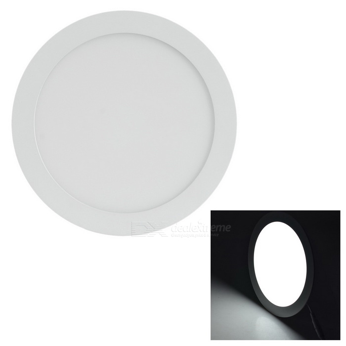 18W 1600lm 6000K 90-SMD LED White Light Round Panel Light (AC 85~265V)