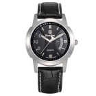 BESTDON BD98108G Men's Fashionable Waterproof Quartz Wrist Watch - Black + Silver (1 x SR626)