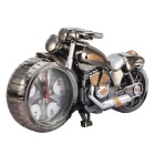 Cool 3D Home Decorative Motorcycle Clock - Grey + Golden