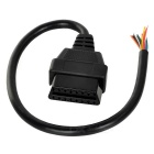 Universal 16-Pin Female OBD II Diagnostic Adapter Cable - Black (20cm)