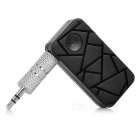 Crack Pattern 3.5mm Plug Car Bluetooth V4.1 Music Receiver - Black