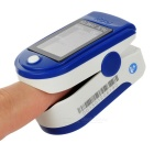 Blood Oxygen Saturation Finger Pulse Oximeter - Blue (2*AAA)