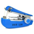 Portable Needlework Cordless Mini Hand-Held Clothes Fabrics Sewing Machine - Blue